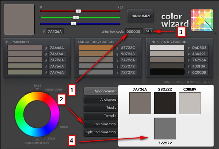 Онлайн программа сочетания цвета