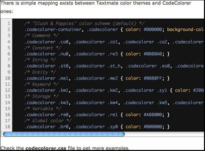 Подсветка Синтаксиса (кода) CodeColorer