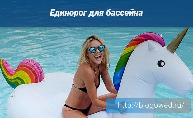 Единорог для бассейна